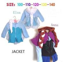 Girls autumn&winter coats 2014 plush linning elsa and anna frozen coat girls jacket coat