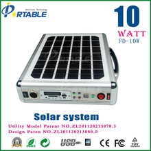 portable solar system camping solar generator for lights, fans, tv, laptop