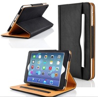 BLACK & TAN STAND SMART MAGNETIC LEATHER CASE COVER FOR NEW APPLE IPAD 2 3 4 AIR AIR 2 MINI 1 2 3