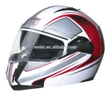 DOT flip up helmet WLT-168 BLACK