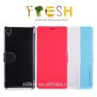 Mobile phone case For sony z3 NILLKIN Fresh flip Leather Case for Z3