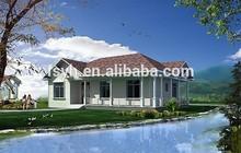 low cost portable home luxury prefab steel villa sales