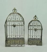 Rustic vintage metal bird cage for garden decoration ,S/2