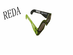 green eye shaped graceful style factory supply top quality OEM/ODM service 3d paper linear polarized glasses made in China