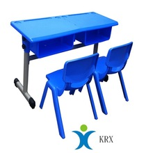 plastic children study desk and chairs
