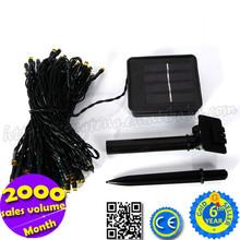 Hot Sale Wedding / Christmas Decoration 12M 3V 100 Lamps Solar Powered LED String Light