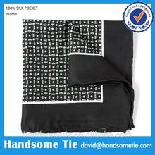 Silk Printed Men High Quality Handkerchiefs