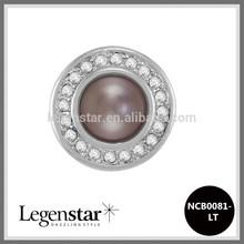Legenstar 20mm wholesale pearl snap press button fit fashion jewelry NCB0081-LT