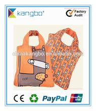 Customized reusable folding nylon tote bag promotion nylon packing bag shopping bag manufacturer
