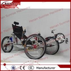 Chinese aluminum alloy frame recumbent trike, recumbent tricycle, recumbent bike