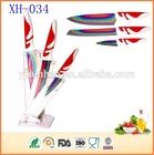 Food conact safe 3pcs titanium kitchen knife set
