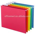 assorted colors 1/5 cut letter size adjustable tab hanging file folder
