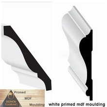 white primed mdf cornice crown moldings