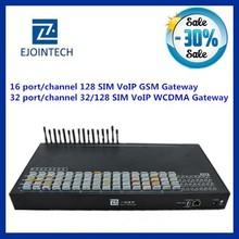 Ejontech 32 port voip gsm gateway/BTS 32/128 sim card slots gsm programmable modem
