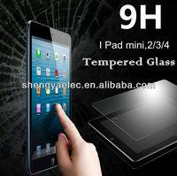 Japanese Asahi glass tempered glass screen guard for ipad mini 2