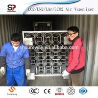 Indonesia Hot Sales Liquid Oxygen/Nitrogen/Argon Air Heated Vaporizer for Sale