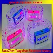 Led light flashing glow in the dark led bracelet,christmas decoration products