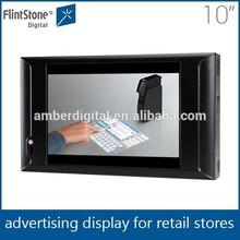 Flintstone 10 inch multitouch screen infrared sensor flatscreen smart tv hdmi input usb output
