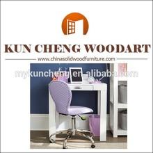White solid wood small children study desk/Dolls house wooden study set-desk