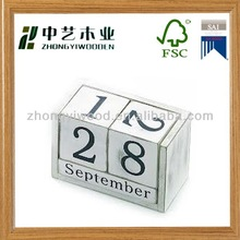 Handmade desktop wooden blocks calendar wholesale