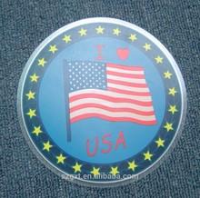 love USA with flag design el car sticker Sound Sensor with Car Cigarette and inverter