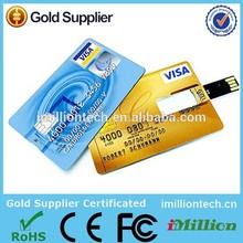 wallet card usb memory stick 4gb-8gb,4gb/8gb visa card usb flash memory,good design usb stick 4gb for company