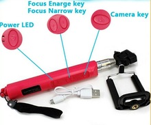 China factory adjustable wireless bluetooth monopod ,can adjust the focus