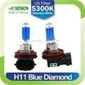 xencn h11 12v 55w 5300k diamante azul del coche luz de sustituir a las bombillas de actualización de excelente calidad de niebla de la lámpara halógena