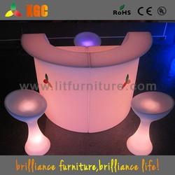 lighted bar counter top/portable bar counter/illuminated led bar counter