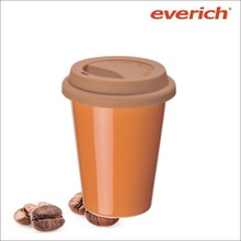 250ml ceramic insulated milk mugs with lid