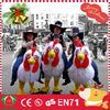 HI Cheap plush adult chicken-rider mascot costumes