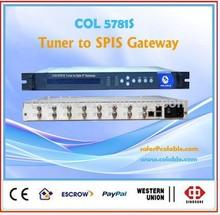 satellite streamer ,satellite dvb-t receiver to ip gateway,iptv solution headend equipment COL5781S