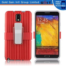 Anti-shock Metal Belt Clip Stand Case for Samsung for Note 3, for Note 3 TPU Stand Case