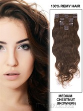 wave full head set clips hair extensions china factory