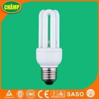 7W 220V 3U Fluorescent Lamp Electric Bulb