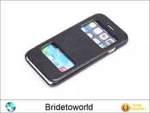 New arrival leather case protector skin cover for iPhone 6 4.7inch for iPhone 6 Plus 5.5inch with 2 windows