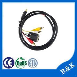 Brazil market audio video cable rca manufacturer