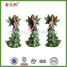 polyresin Xmas tress angel ornaments decor