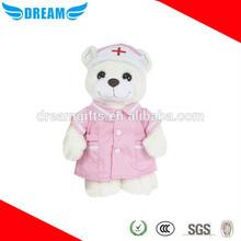 Custom nurse/doctor bear plush toy bear