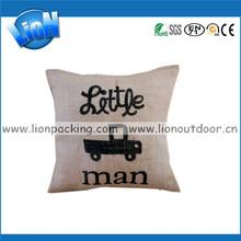designer throw jute pillows with car logo for decoration