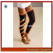 Custom Leg Slimming Women Running Plain Compression Sleeve / High Performance Long Calf Sport Compression Sleeve MLL243