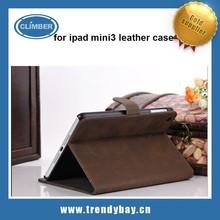 for ipad mini3 leather cases, for ipad mini3 case leather