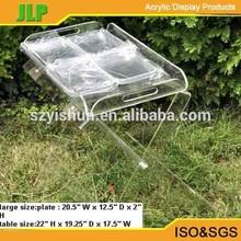 JLP acrylic tray for teapot, juice, fruit, coffee,acrylic food tray