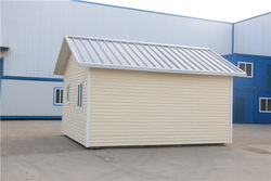 with rolling door steel metal house