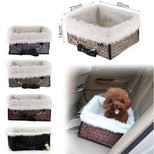 Pet Dog Puppy Cat Car Seat Carrier Car Auto Vehicle Booster Seat Travel Tote Bag