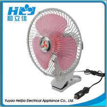 6 inch12v oscillating portable electric car fan