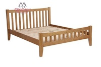 306 rustic style natural oak 4'6'' double bed/bedroom furniture
