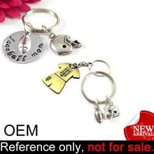 custom promotion decorative metal souvenir keychain foot ball