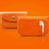 Candy color portable storage earphone bag 2015