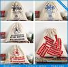 organic custom silk screen print wholesale cheap cotton drawstring bag